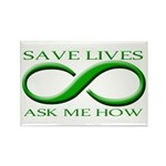 Save Lives, ask me how Rectangle Magnet (100 pack)