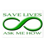 Save Lives, ask me how Postcards (Package of 8)