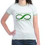 Save Lives, ask me how Jr. Ringer T-Shirt