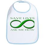 Save Lives, ask me how Bib