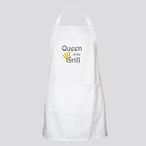 Queen of the Grill (yellow pepper crown) BBQ Apron