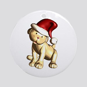 Santa Pup Ornament (Round)