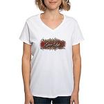 Give Life Vine Design Women's V-Neck T-Shirt