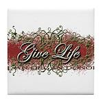Give Life Vine Design Tile Coaster