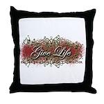 Give Life Vine Design Throw Pillow