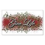 Give Life Vine Design Rectangle Sticker 50 pk)
