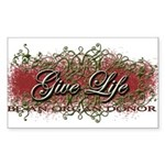 Give Life Vine Design Rectangle Sticker 10 pk)