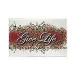 Give Life Vine Design Rectangle Magnet