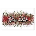 Give Life Vine Design Postcards (Package of 8)