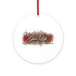 Give Life Vine Design Ornament (Round)