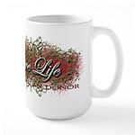 Give Life Vine Design Large Mug