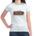 Give Life Vine Design Jr. Ringer T-Shirt
