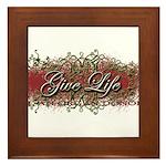 Give Life Vine Design Framed Tile