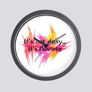 It's Not Easy - Karate pink Wall Clock