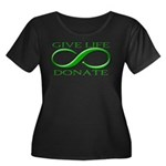 Give Life Women's Plus Size Scoop Neck Dark T-Shir