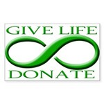 Give Life Rectangle Sticker 10 pk)