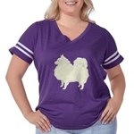 Spitz Women's Plus Size Football T-Shirt