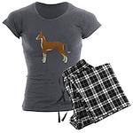 Ibizan Hound Women's Charcoal Pajamas