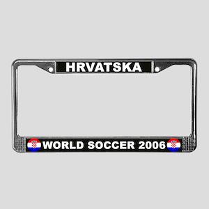 Croatia World Cup Soccer License Plate Frame