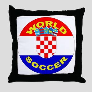Croatia World Cup Soccer Throw Pillow