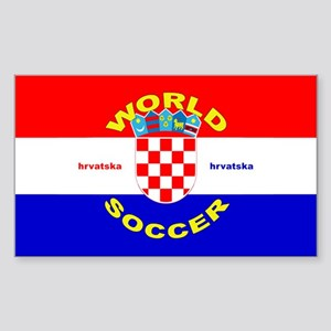 Croatia World Cup Soccer Rectangle Sticker