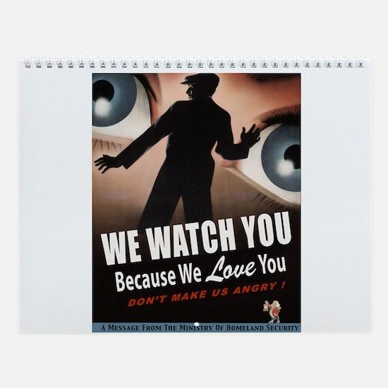 Domestic Surveillance Wall Calendar