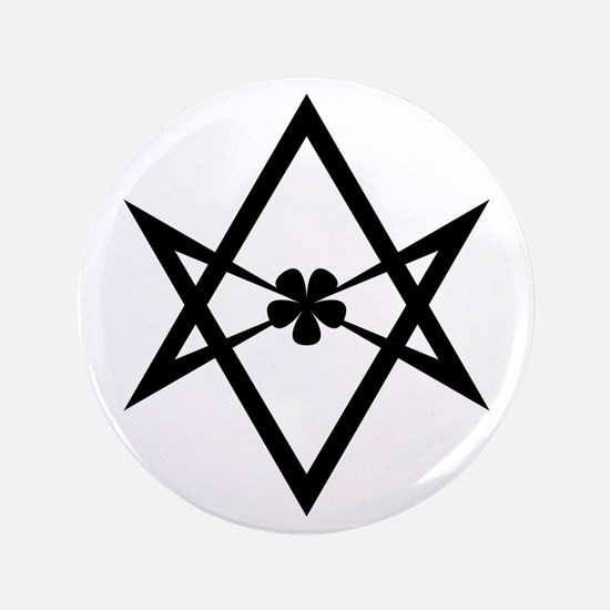 "Unicursal Hexagram 3.5"" Button"
