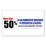 Domestic Violence Truth Revea Rectangle Sticker 5