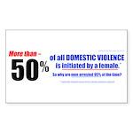 Domestic Violence Truth Revea Sticker (Rect. 10pk)