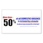 Domestic Violence Truth Revea Rectangle Sticker