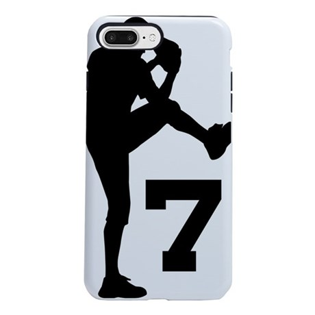 7 pitcher silhouette iphone 7 plus tough case by admin cp5297816