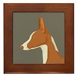 Ibizan Hound Profile Framed Tile