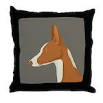 Ibizan Hound Profile Throw Pillow