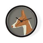 Ibizan Hound Profile Wall Clock