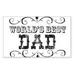 World's Best Dad Rectangle Sticker