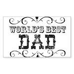 World's Best Dad Rectangle Sticker 50 pk)