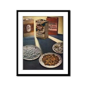 Vintage USSR Cereal and Grain Framed Panel Print