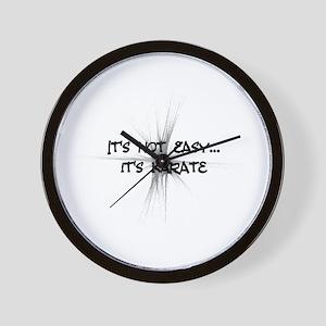 It's Not Easy - Karate Wall Clock