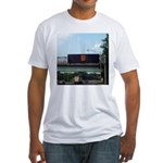 Test Test Test! Fitted T-Shirt