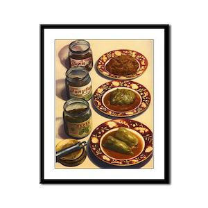 Pickled Foods USSR Framed Panel Print
