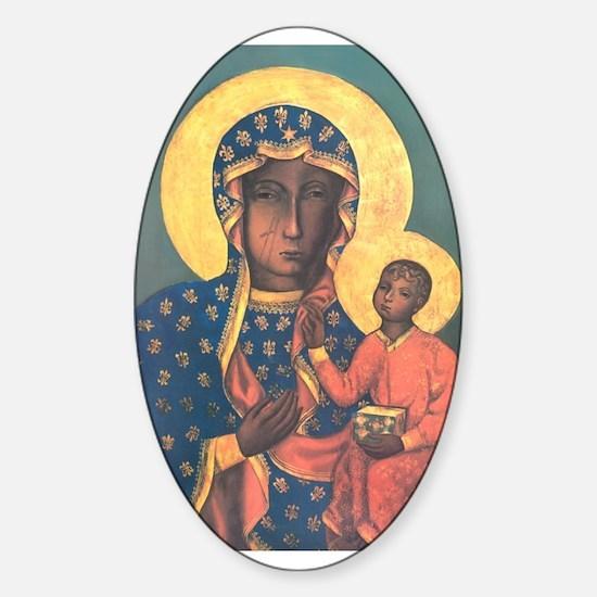 Our Lady of Czestochowa Oval Stickers