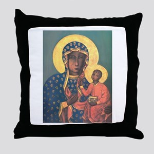 Our Lady of Czestochowa Throw Pillow