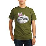 Not a Bunny Funny Organic Men's T-Shirt (dark)