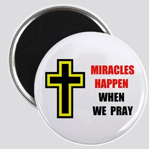 """MIRACLES DO HAPPEN 2.25"""" Magnet (10 pack)"""