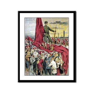 Red Flag USSR Framed Panel Print