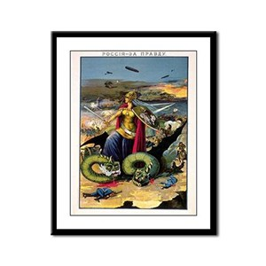 Russia For The Truth Framed Panel Print