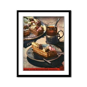 Tea and Pastries USSR Framed Panel Print
