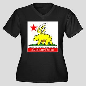 Cali Fre Republic #01 Golden Women's Plus Size V-N