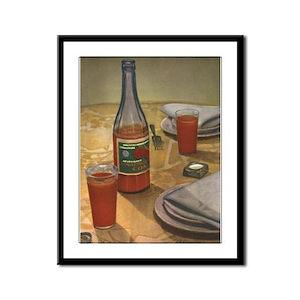 USSR Tomato Juice Framed Panel Print
