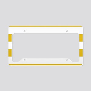 Mustard Yellow Horizontal Stripes License Plate Ho